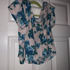 American Apparel rare floral crop top one size